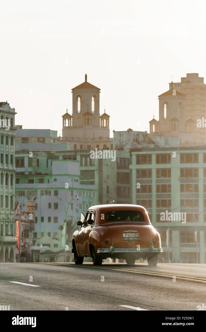 Cuba, La Havane, Malecon, Habana Centro district Photo Stock