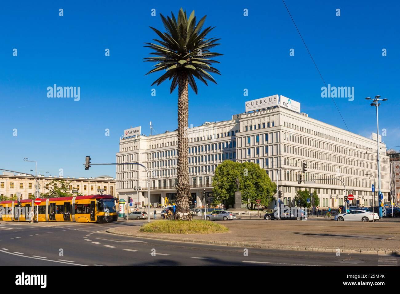 La Pologne, la Mazovie région, Varsovie, rond-point de Gaulle Photo Stock