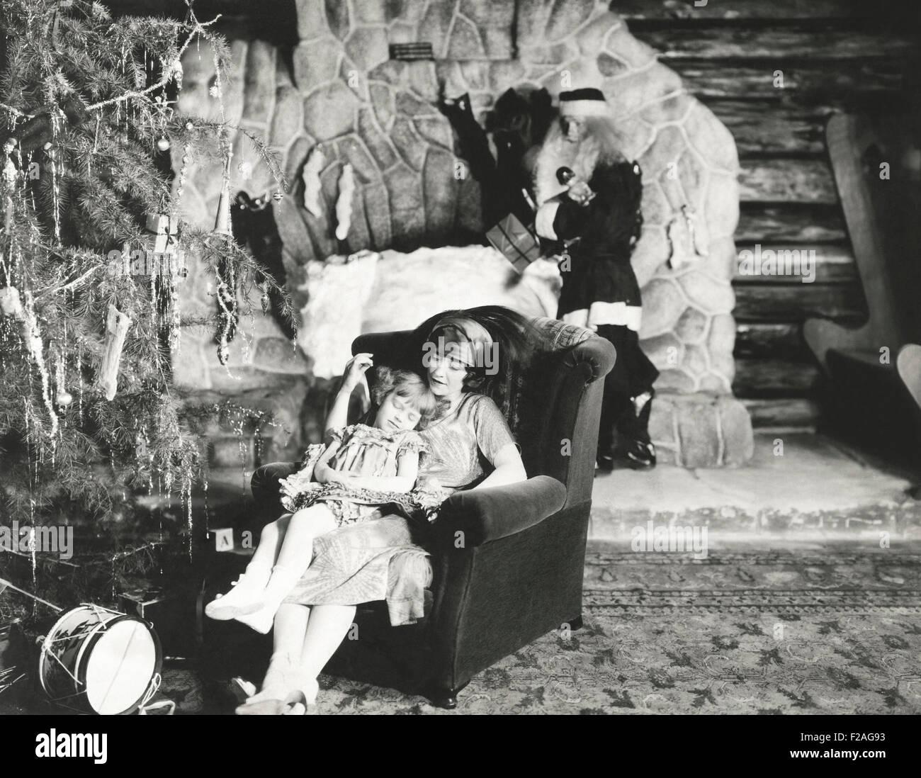 En attendant le Père Noël (OLVI008 OU__F231) Banque D'Images