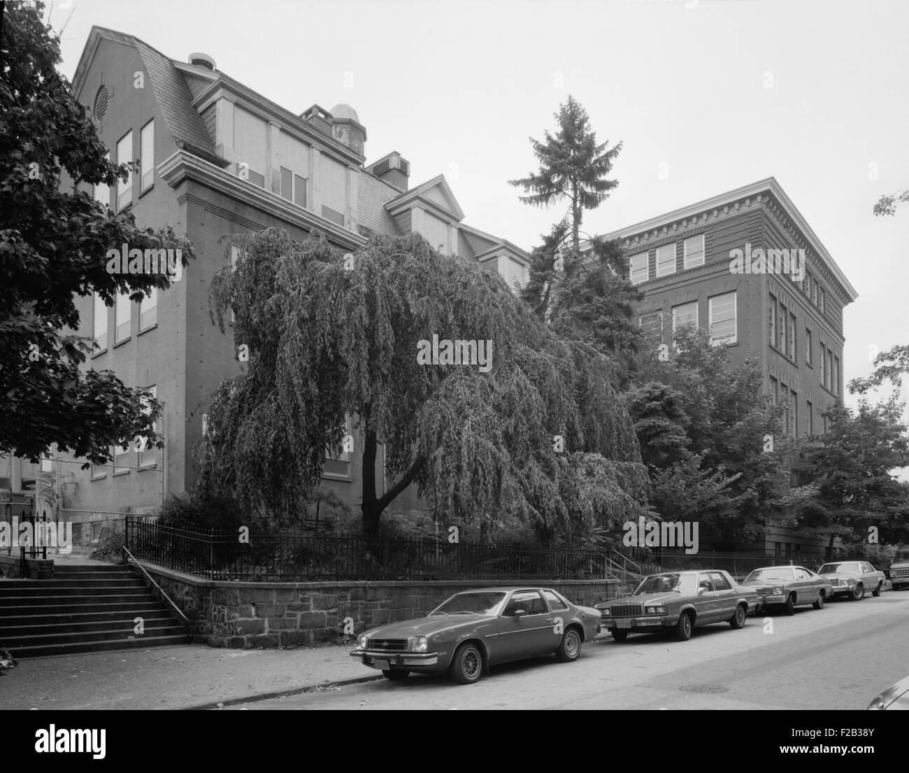 Yonkers, New York, ca. 1980. L'école publique n° 3, Hamilton Avenue, entre les rues Ludlow et Morris. Photo Stock