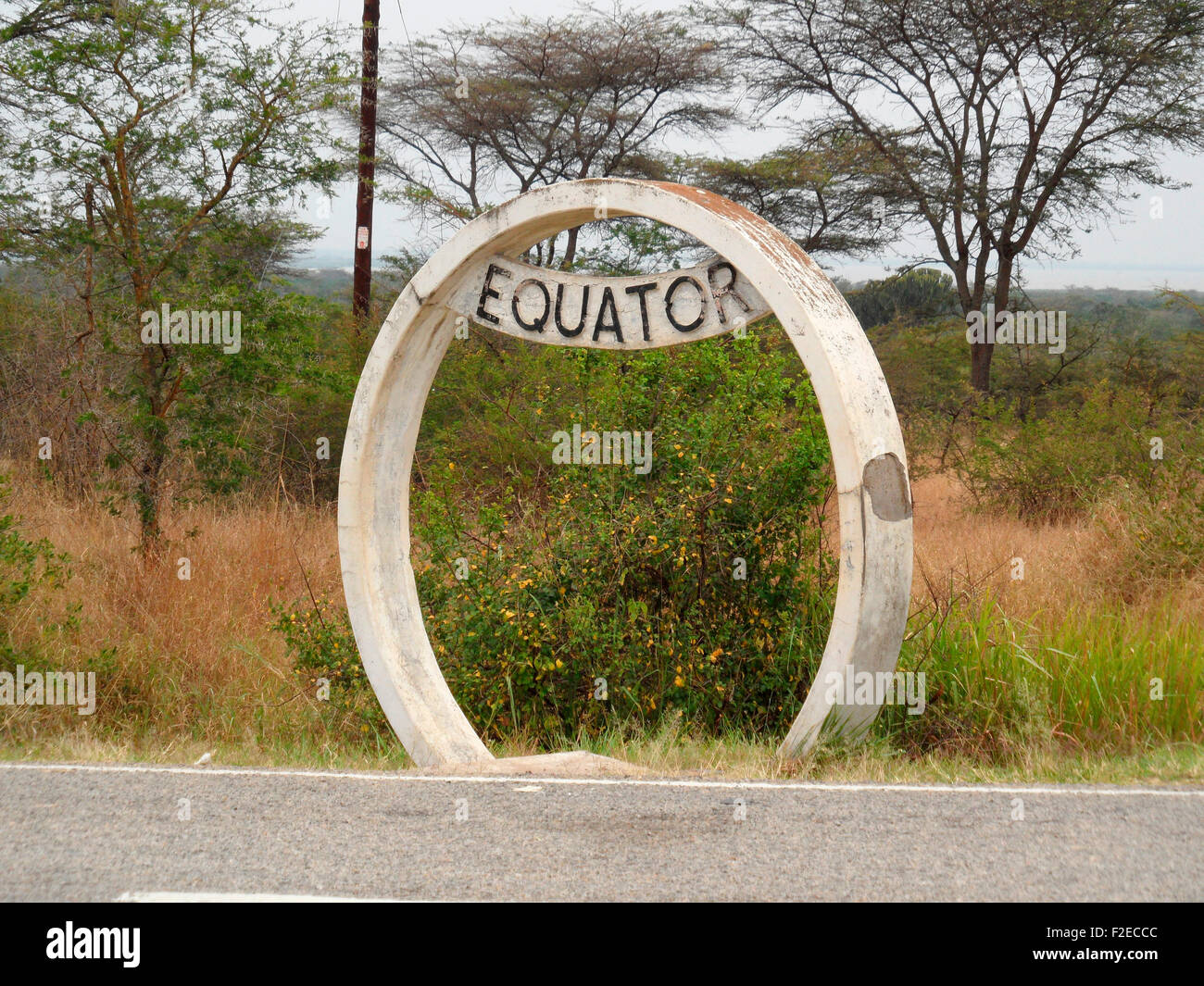 Aequator, en Ouganda. Photo Stock