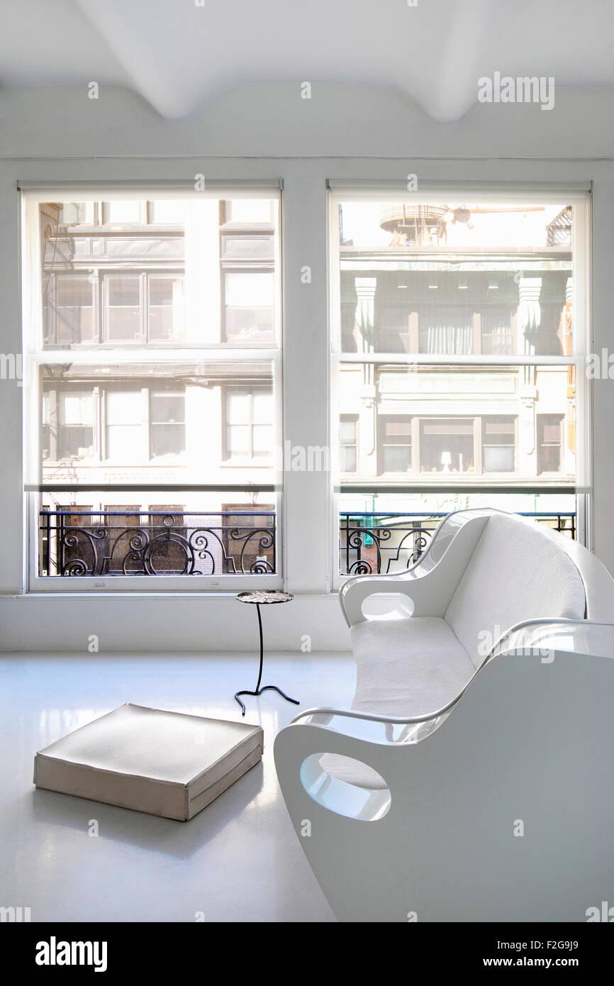 Salon moderne blanc Banque D\'Images, Photo Stock: 87639953 ...