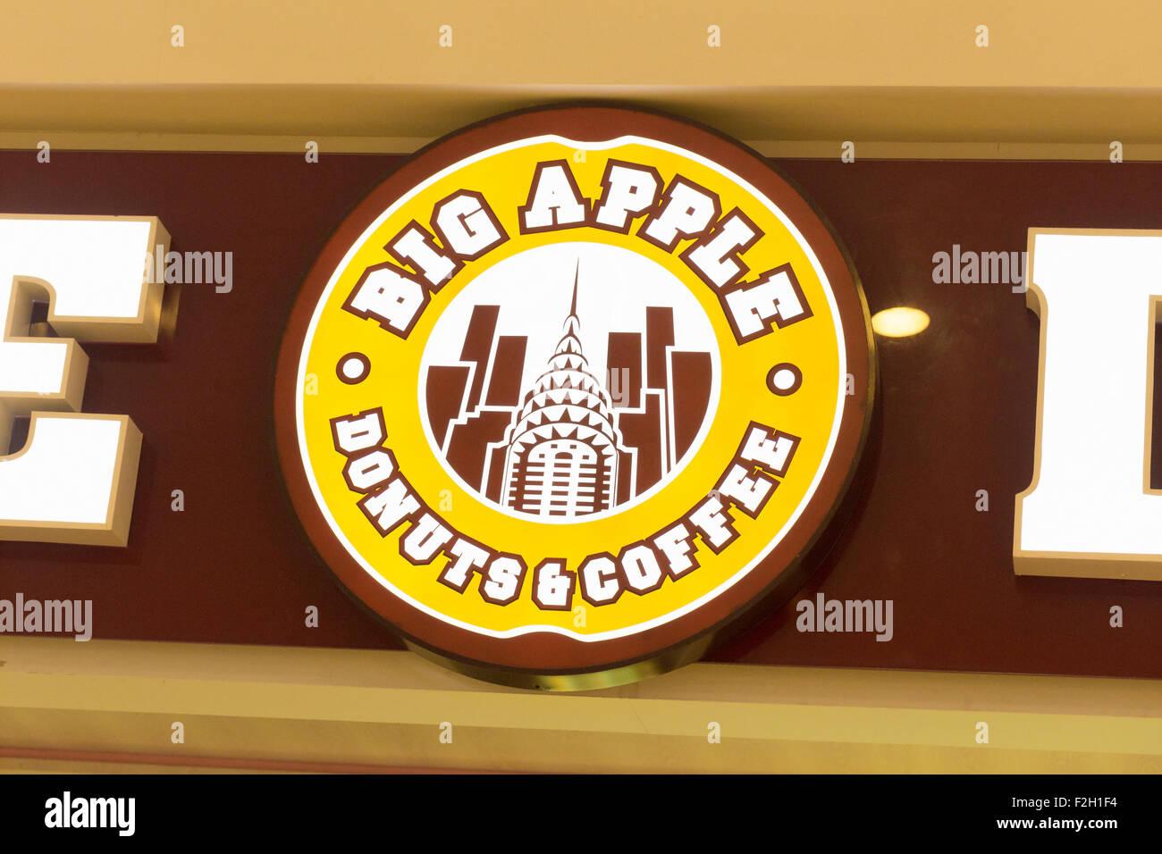 Big Apple donuts & logo café Photo Stock