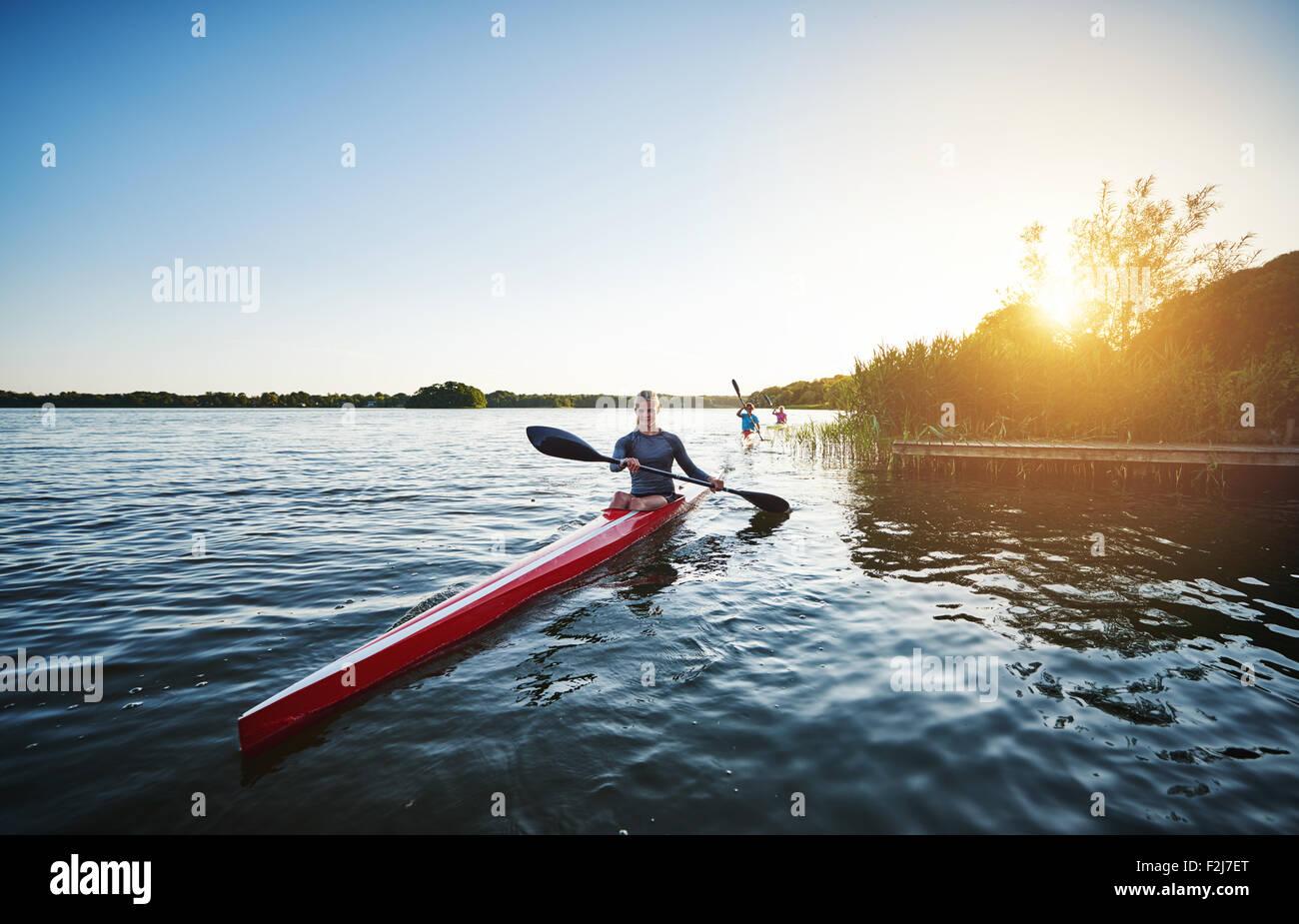L'équipe d'aviron de l'élite Photo Stock