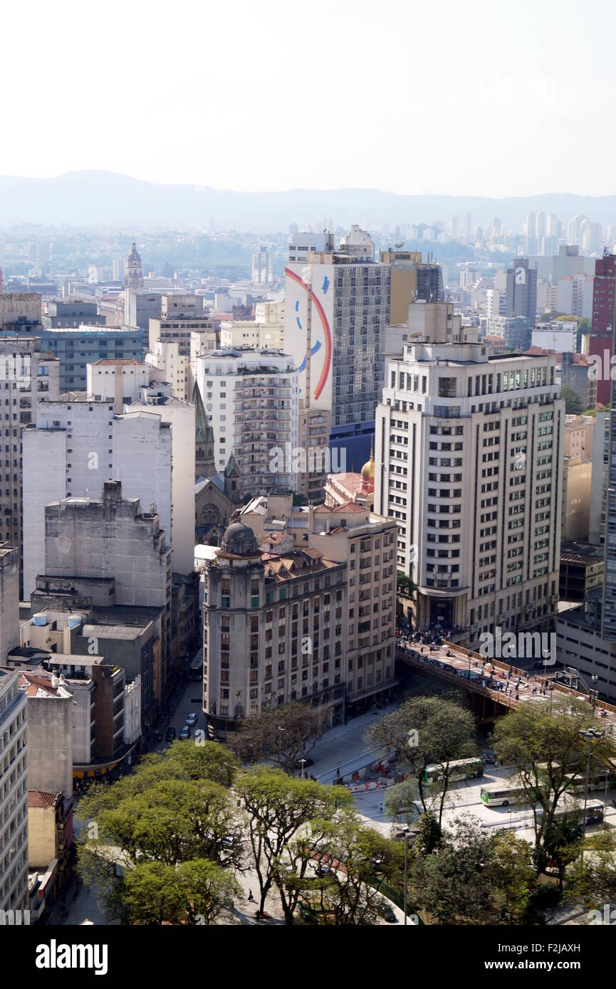Bâtiments dans le centre-ville de Sao Paulo Photo Stock