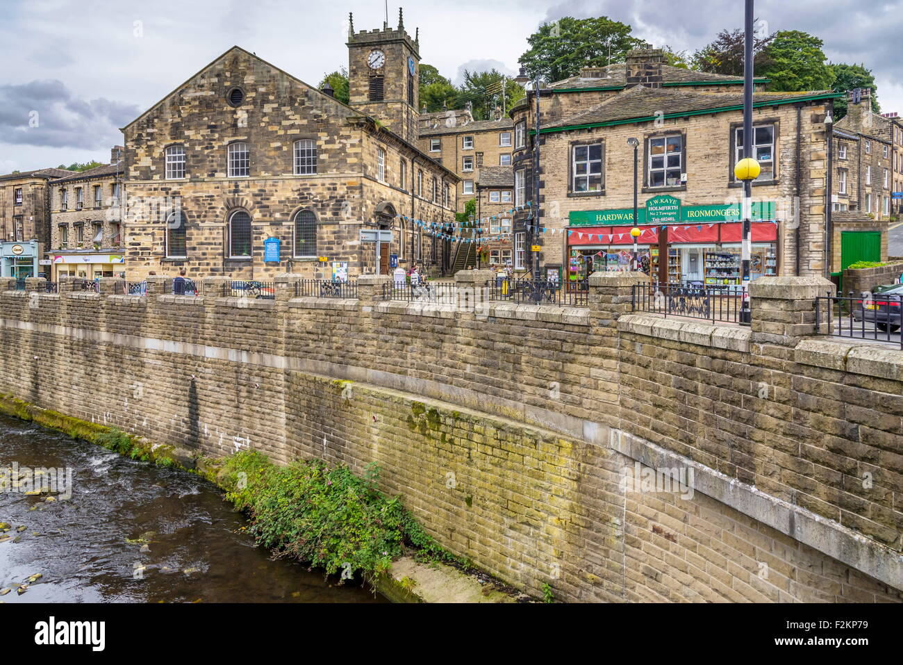 Le centre de Holmfirth emplacement de la série tv Last of the Summer Wine à Holmfirth dans West Yorkshire. Photo Stock