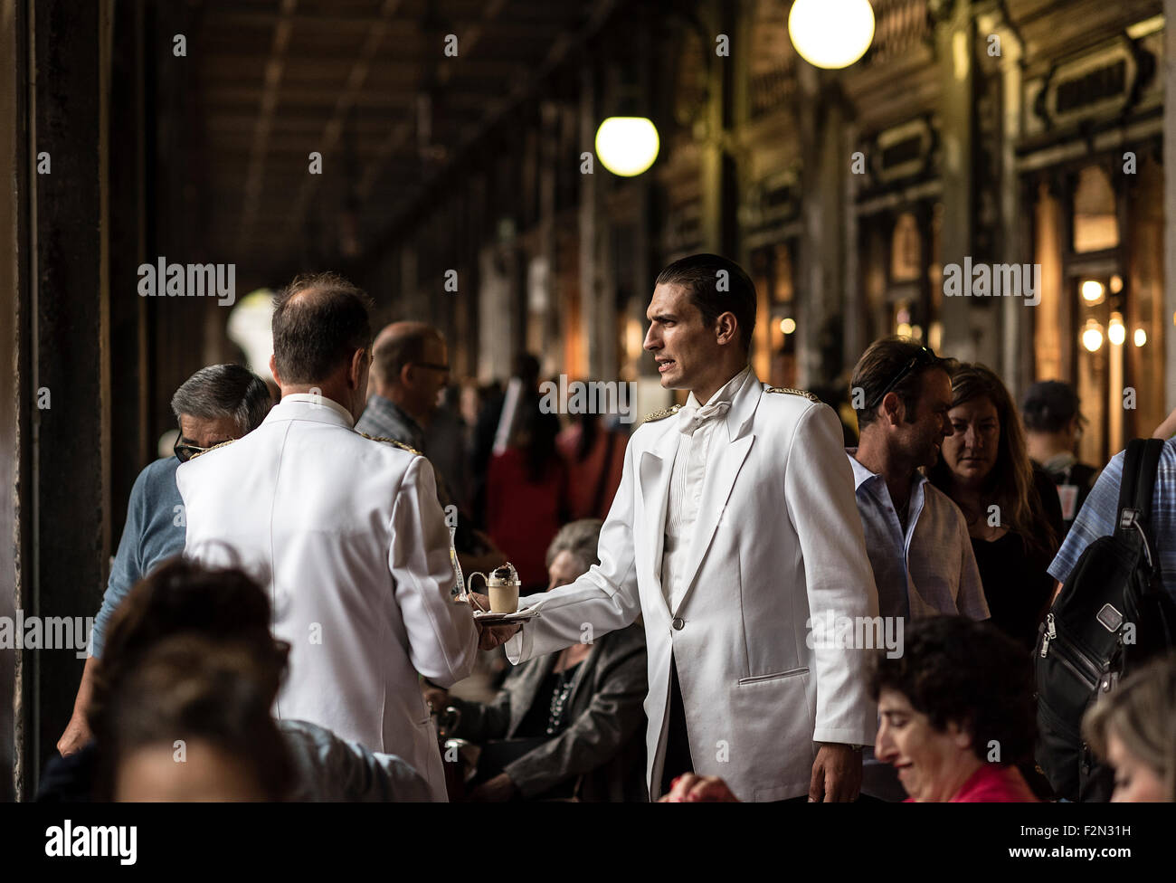 Florian Café, Place Saint Marc, San Marco, Venise, Italie, Europe Photo Stock