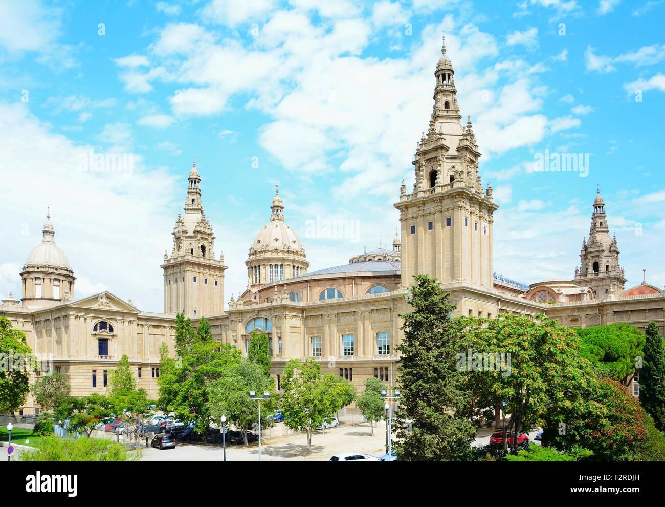 Musée national d'Art de Catalogne à Barcelone, Espagne. Photo Stock