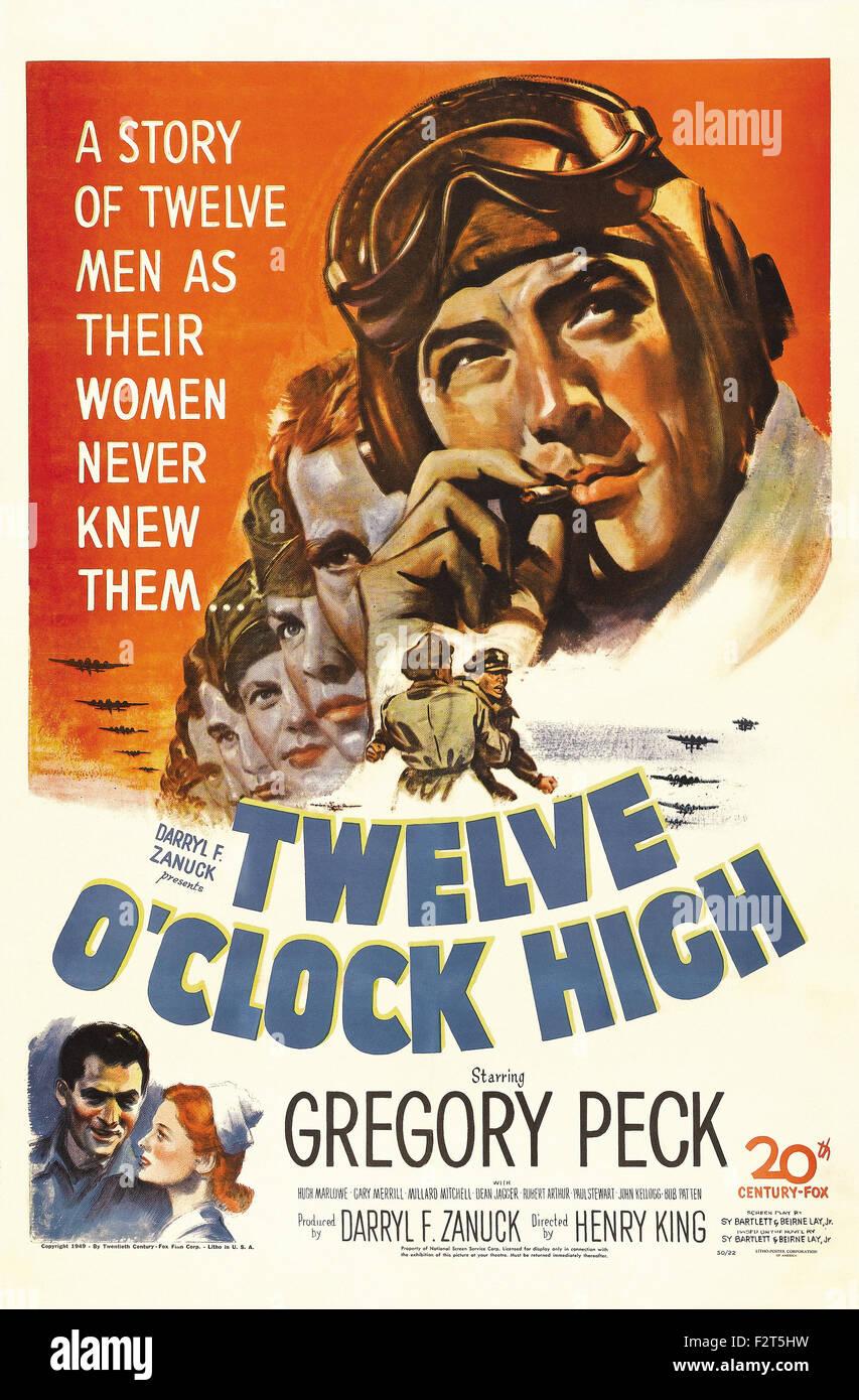 Douze heures - haut de l'affiche de film Photo Stock