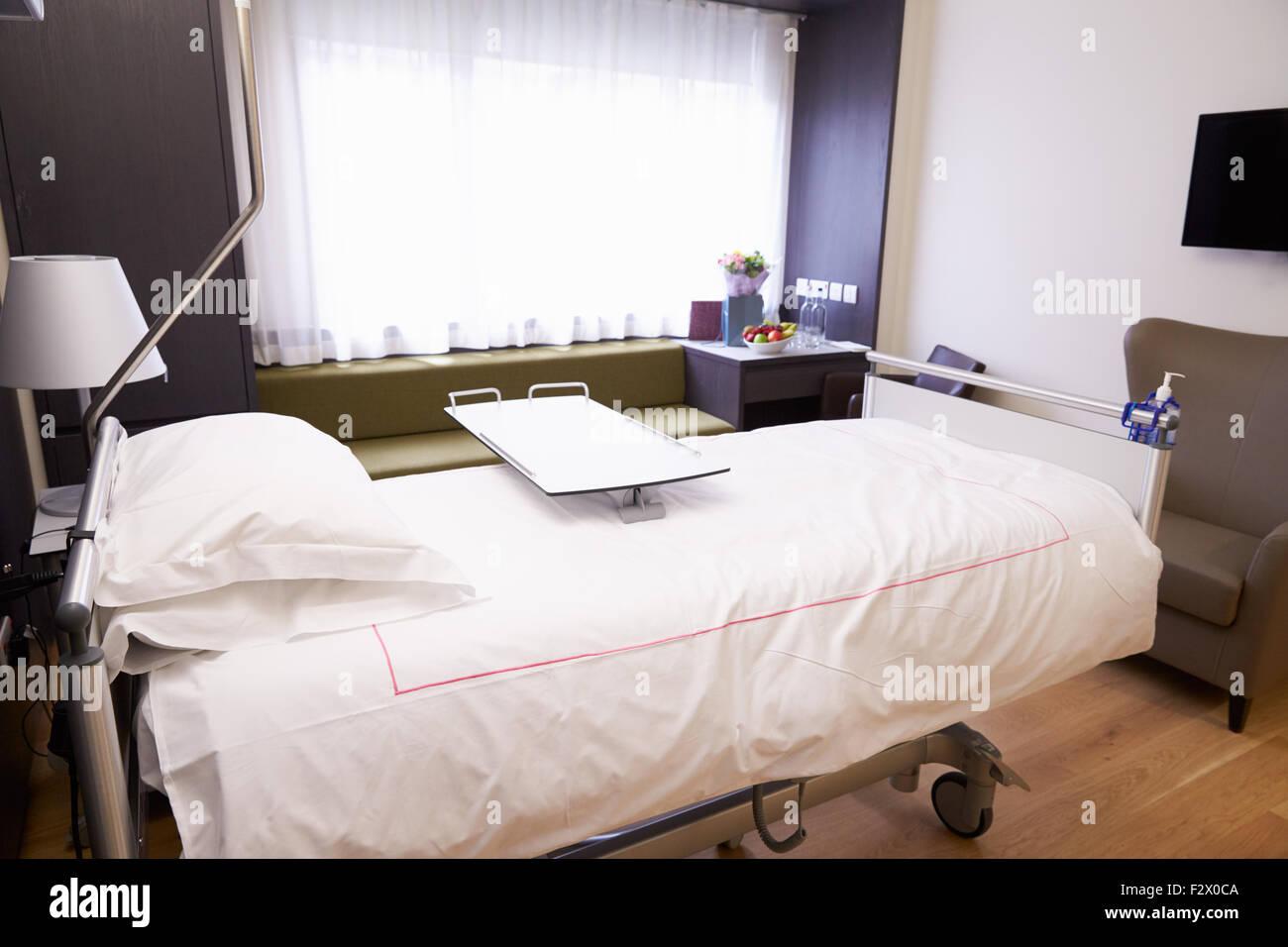 Patient vide chambre à l\'hôpital moderne Banque D\'Images, Photo ...