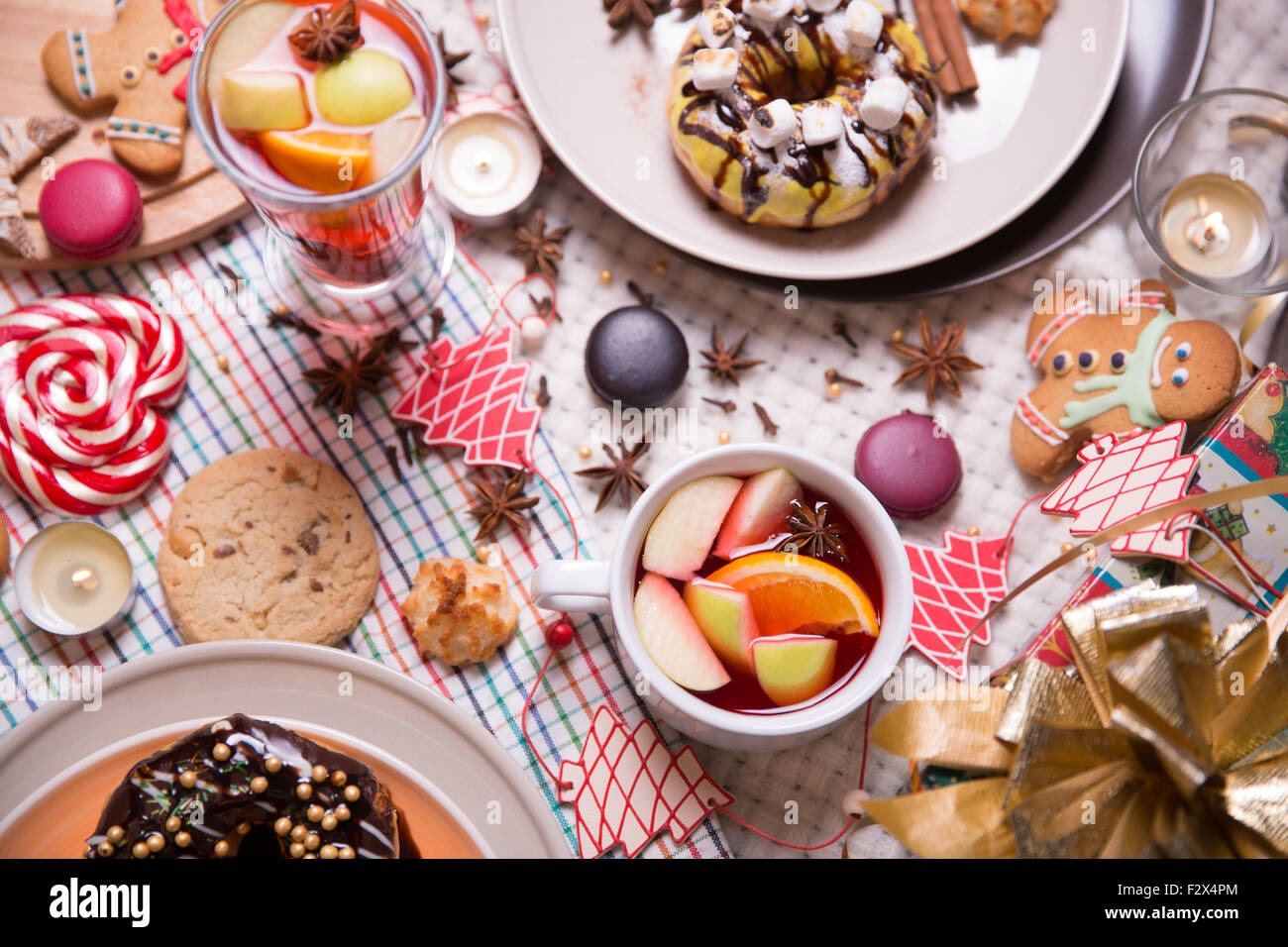 Bonbons de Noël Photo Stock