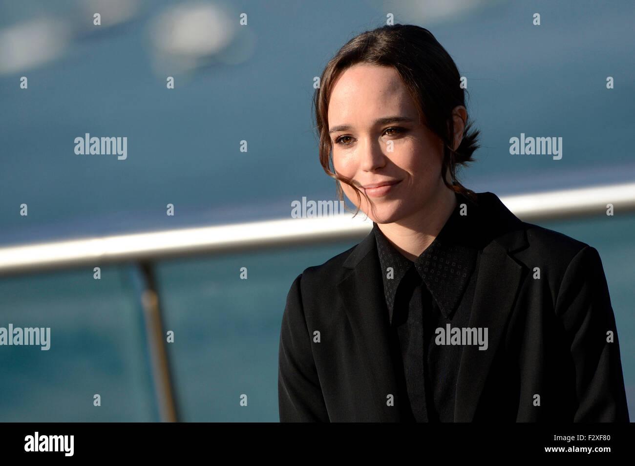 """Ellen Page assiste à la conférence de presse pour """"Freeheld"""" au 63. International Filmfestival San Sebastian / Festival Internacional de Cine de Donostia-San Sebastián, 24.09.2015/photo alliance Banque D'Images"""