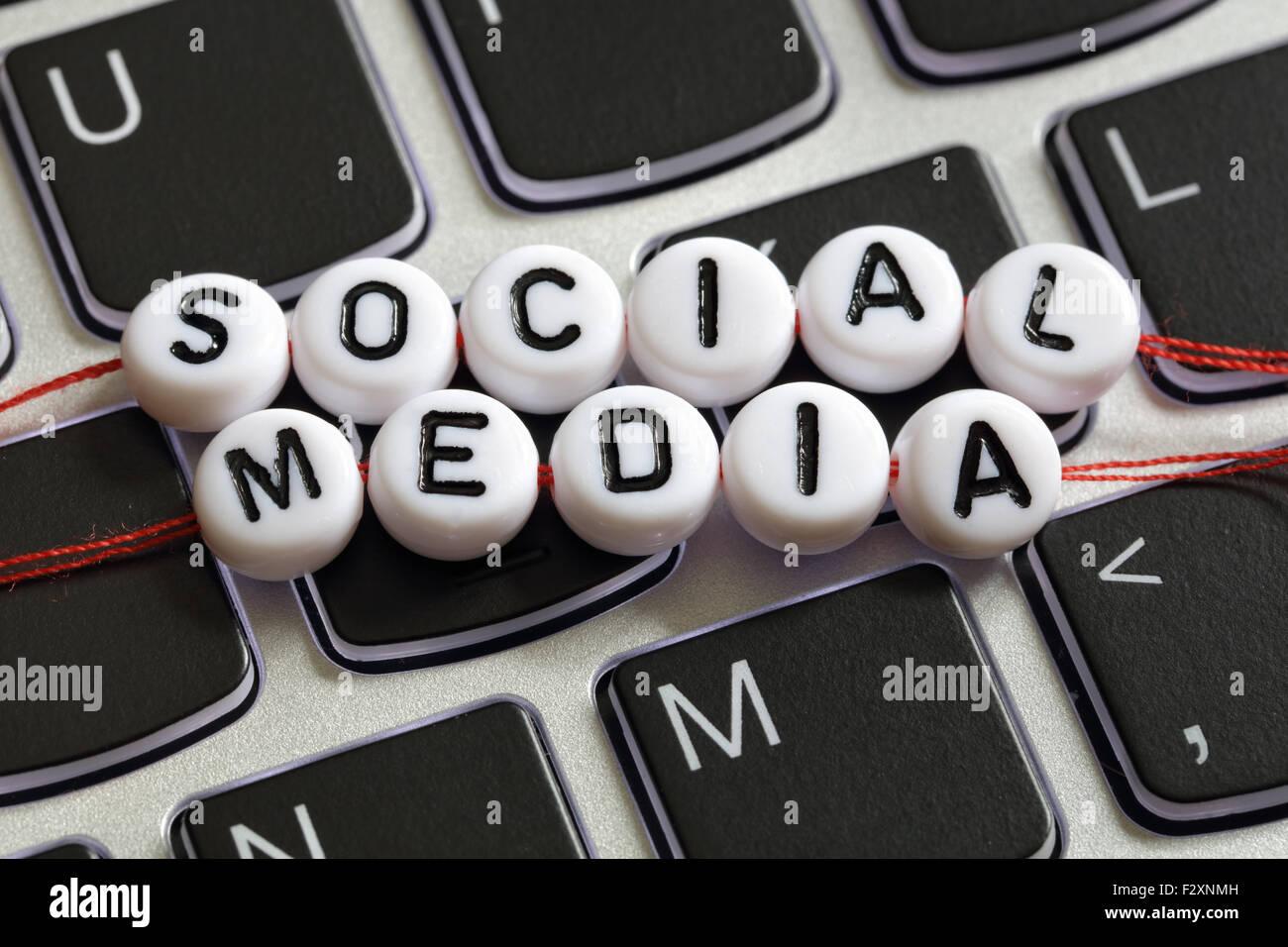 Médias sociaux Photo Stock