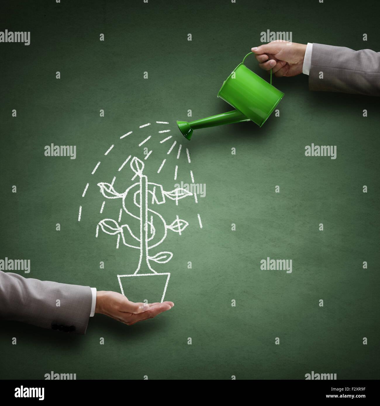 La croissance financière Banque D'Images