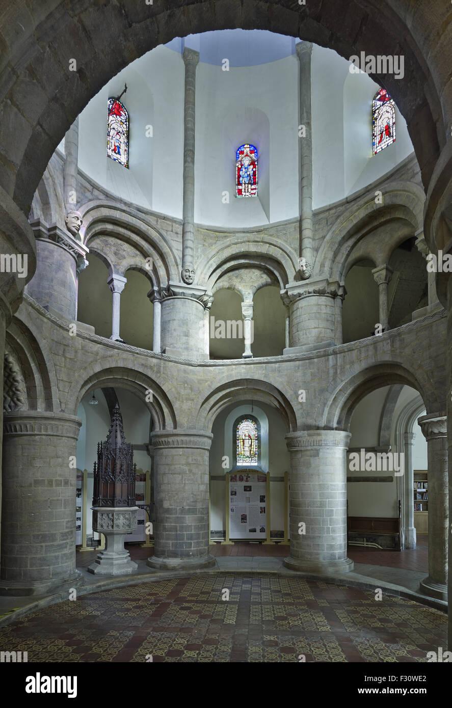 Cambridge, église ronde ou l'église du Saint-Sépulcre Photo Stock