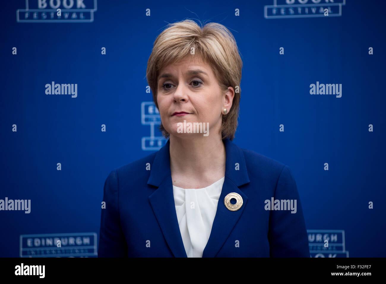 Premier ministre écossais Nicola Sturgeon. Photo Stock