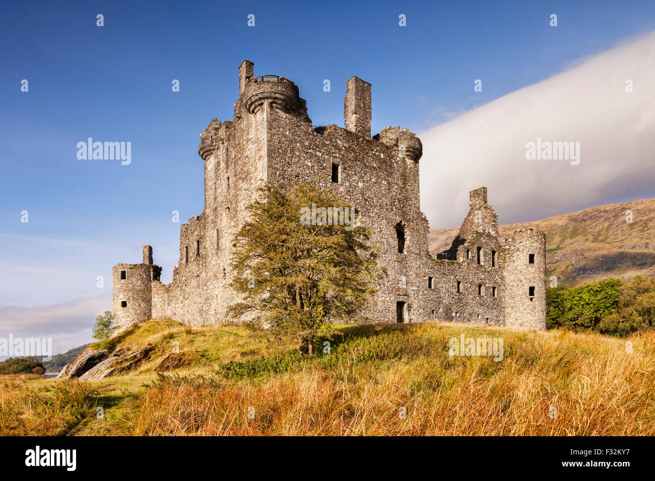 Le Château de Kilchurn, Loch Awe, Argyll and Bute, Ecosse, Royaume-Uni. Photo Stock