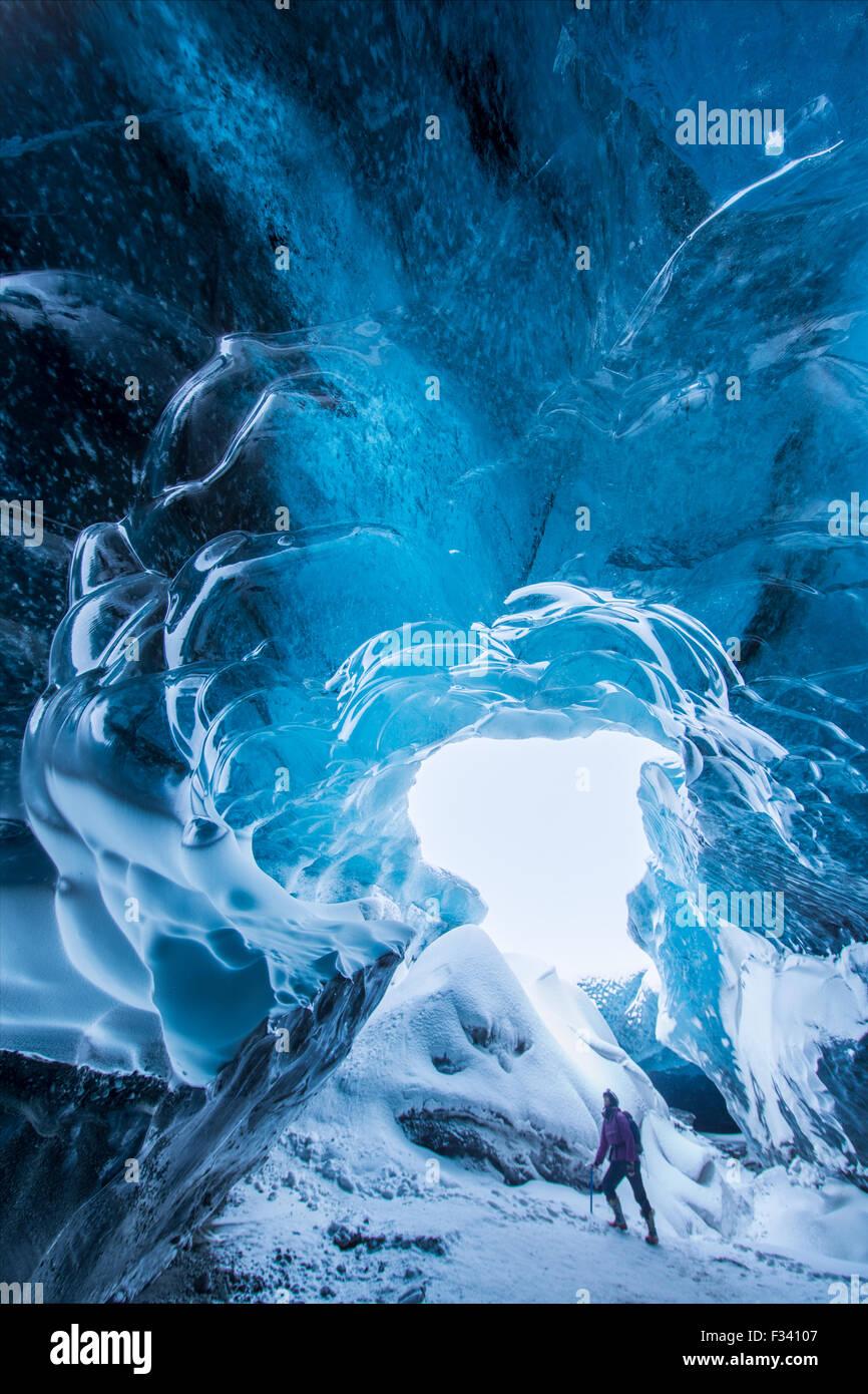 Glacier Breidamerkurjokull, l'Est de l'Islande Photo Stock