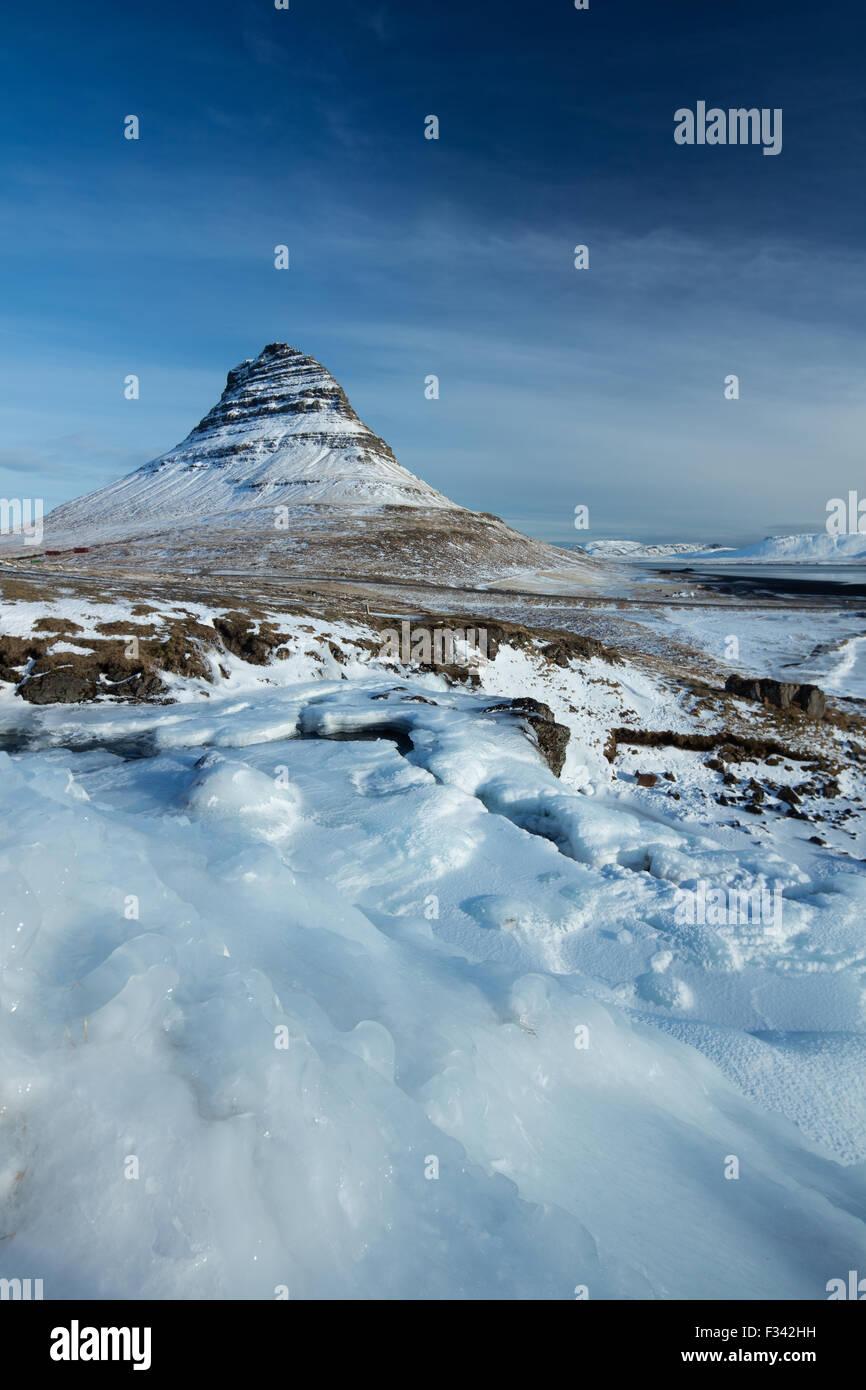 Kirkjufell Snaefellsness, Iceland Photo Stock