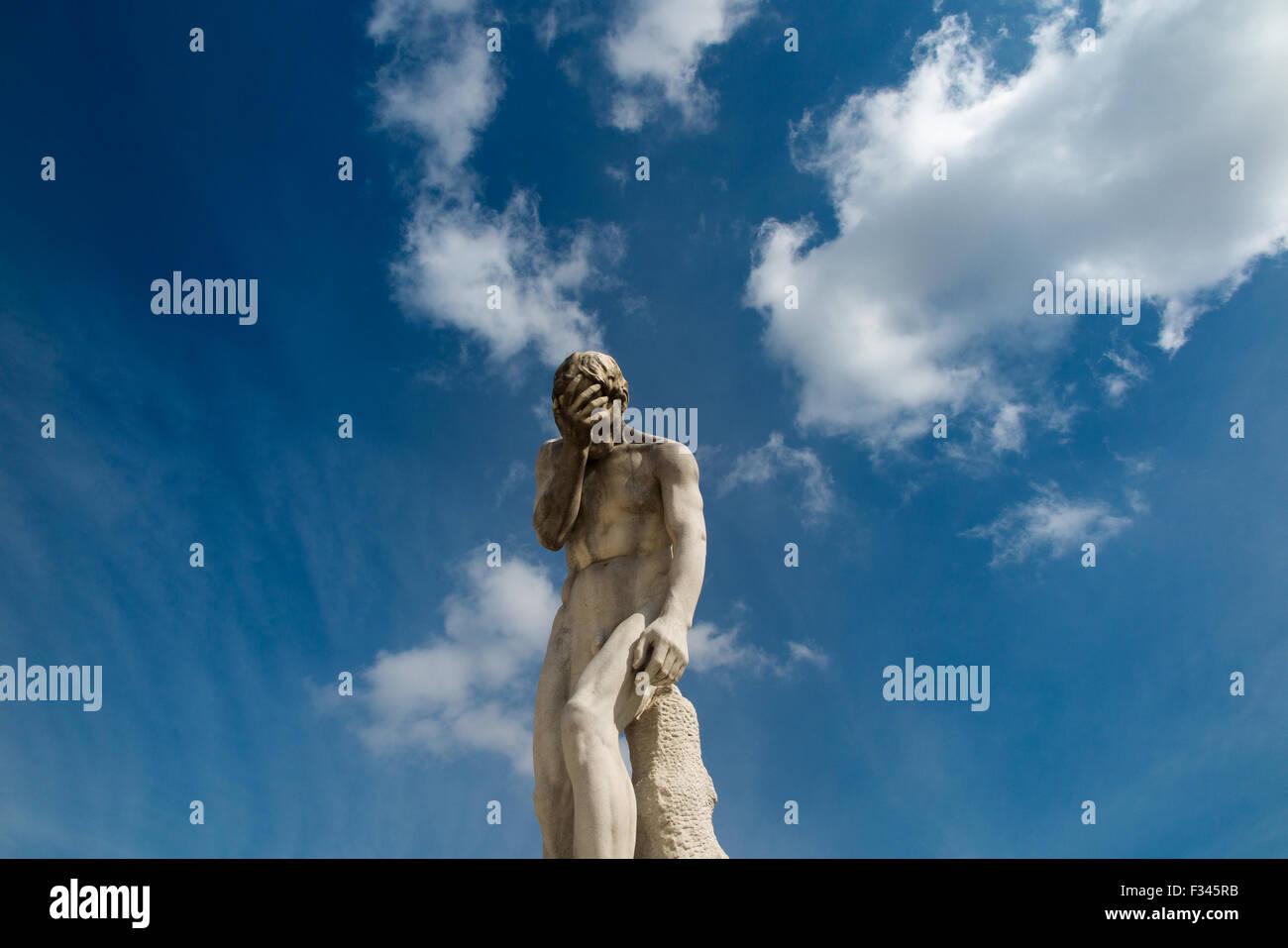 Statue dans le Jardin des Tuileries, Paris, France Photo Stock