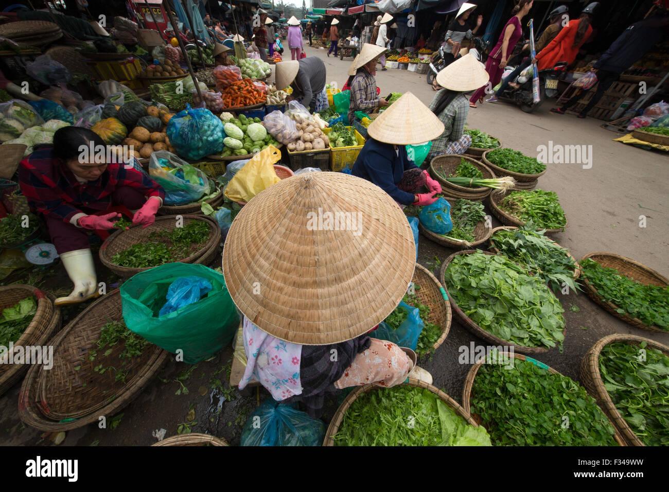 Marché de Dong Ba, Hue, Vietnam Photo Stock