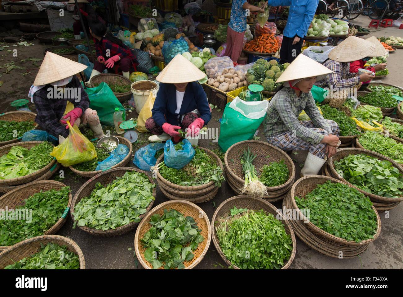 Marché de Dong Ba, Hue, Vietnam Banque D'Images