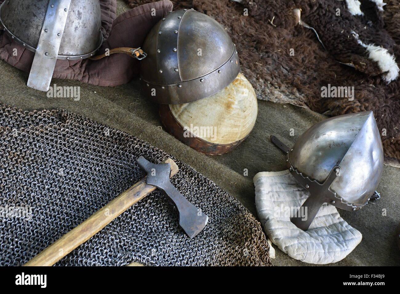 Historique longue épée utilisée par les fans de l'histoire Photo Stock