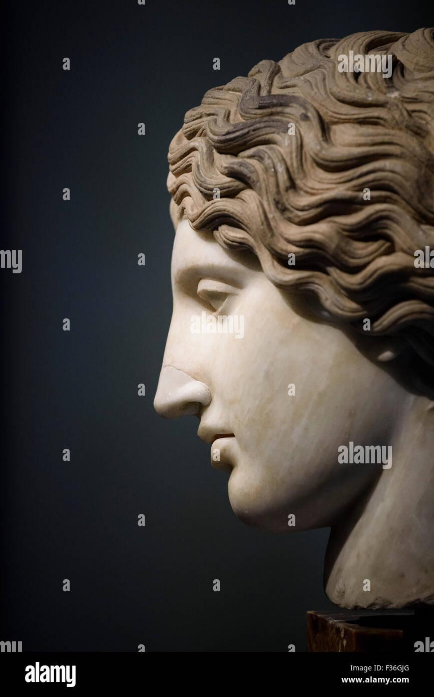 Rome. L'Italie. Les musées du Capitole. Chef de l'Amazon. Photo Stock