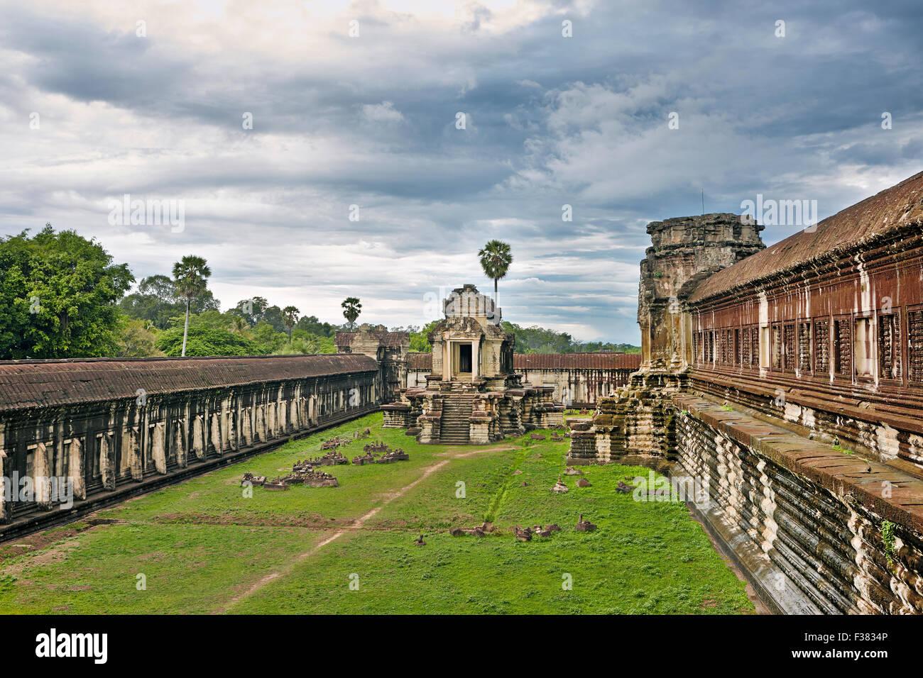 Temple d'Angkor Wat. Parc archéologique d'Angkor, la Province de Siem Reap, au Cambodge. Photo Stock
