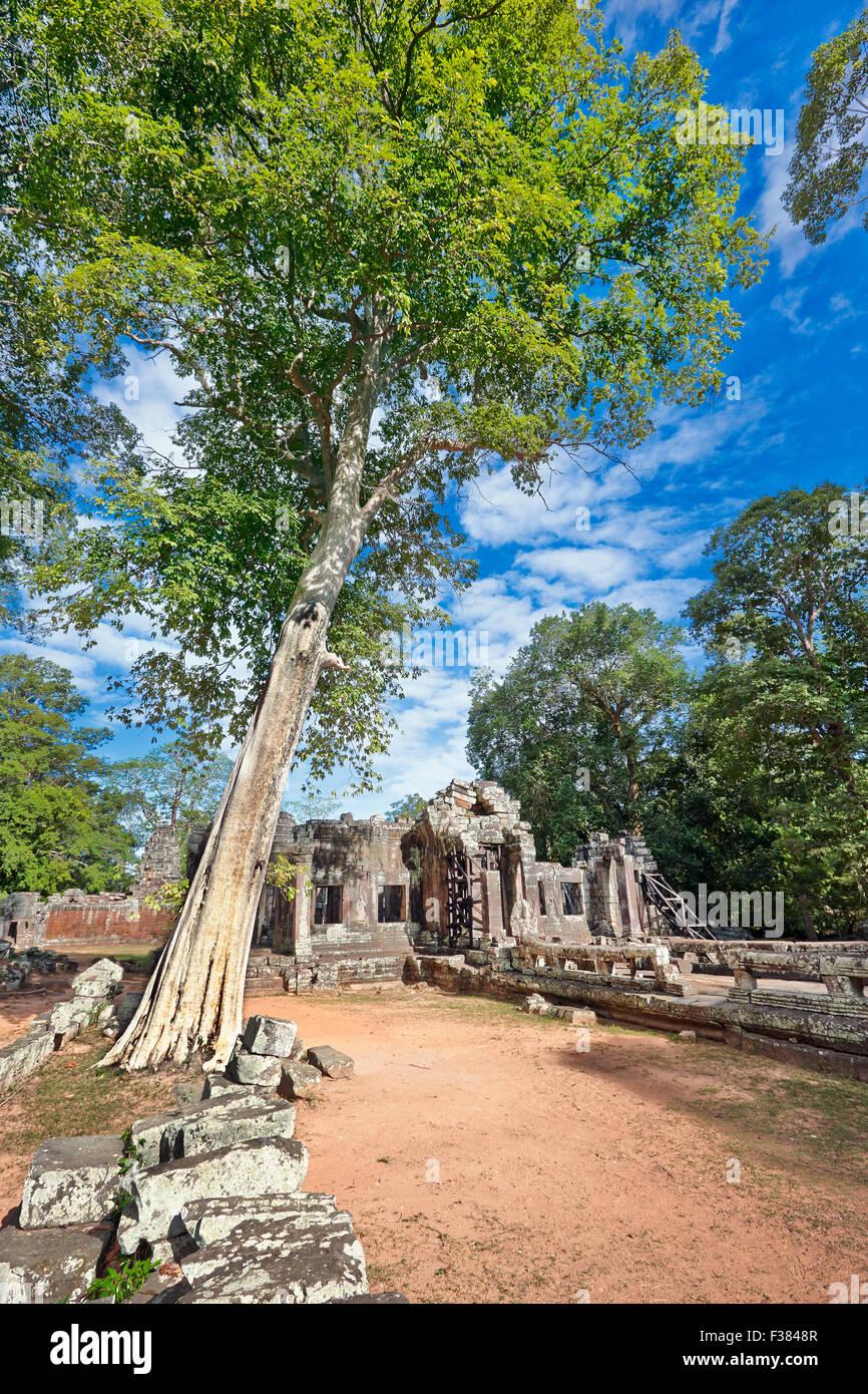 Temple de Banteay Kdei. Parc archéologique d'Angkor, la Province de Siem Reap, au Cambodge. Photo Stock