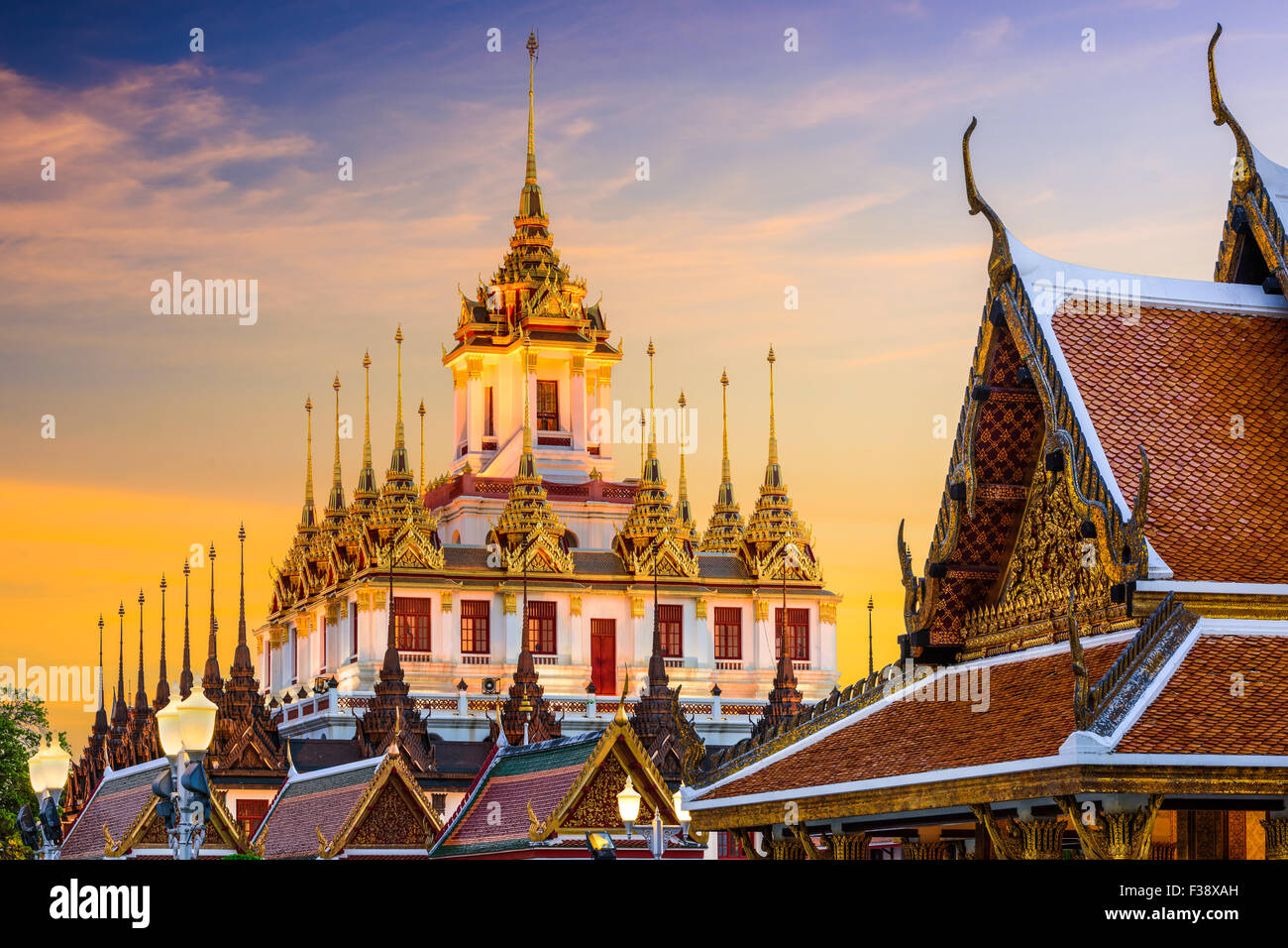 Wat Ratchanatdaram à Bangkok, Thaïlande. Photo Stock