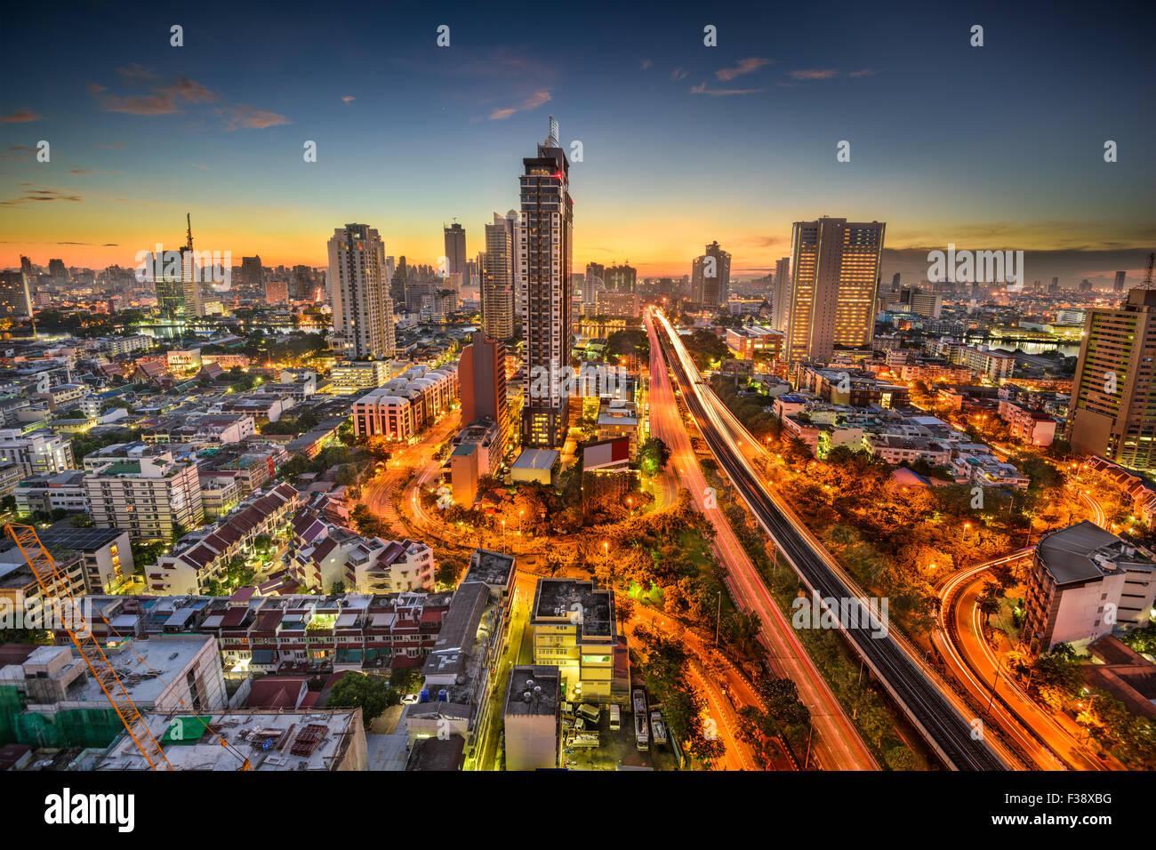 Bangkok, Thaïlande skyline à l'aube. Photo Stock