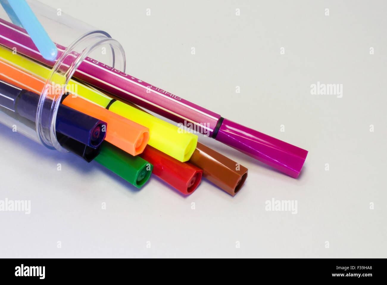 La couleur panaché de papeterie Photo Stock
