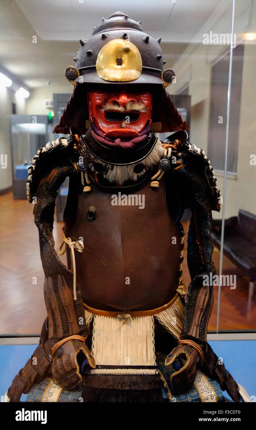 Armure de samouraï à l'affiche au Musée National de Tokyo à Tokyo, Japon Photo Stock