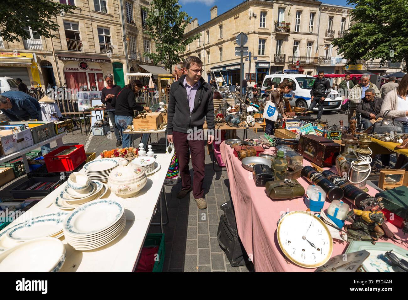 Place Meynard street market Bordeaux Gironde Aquitaine France Europe Photo Stock