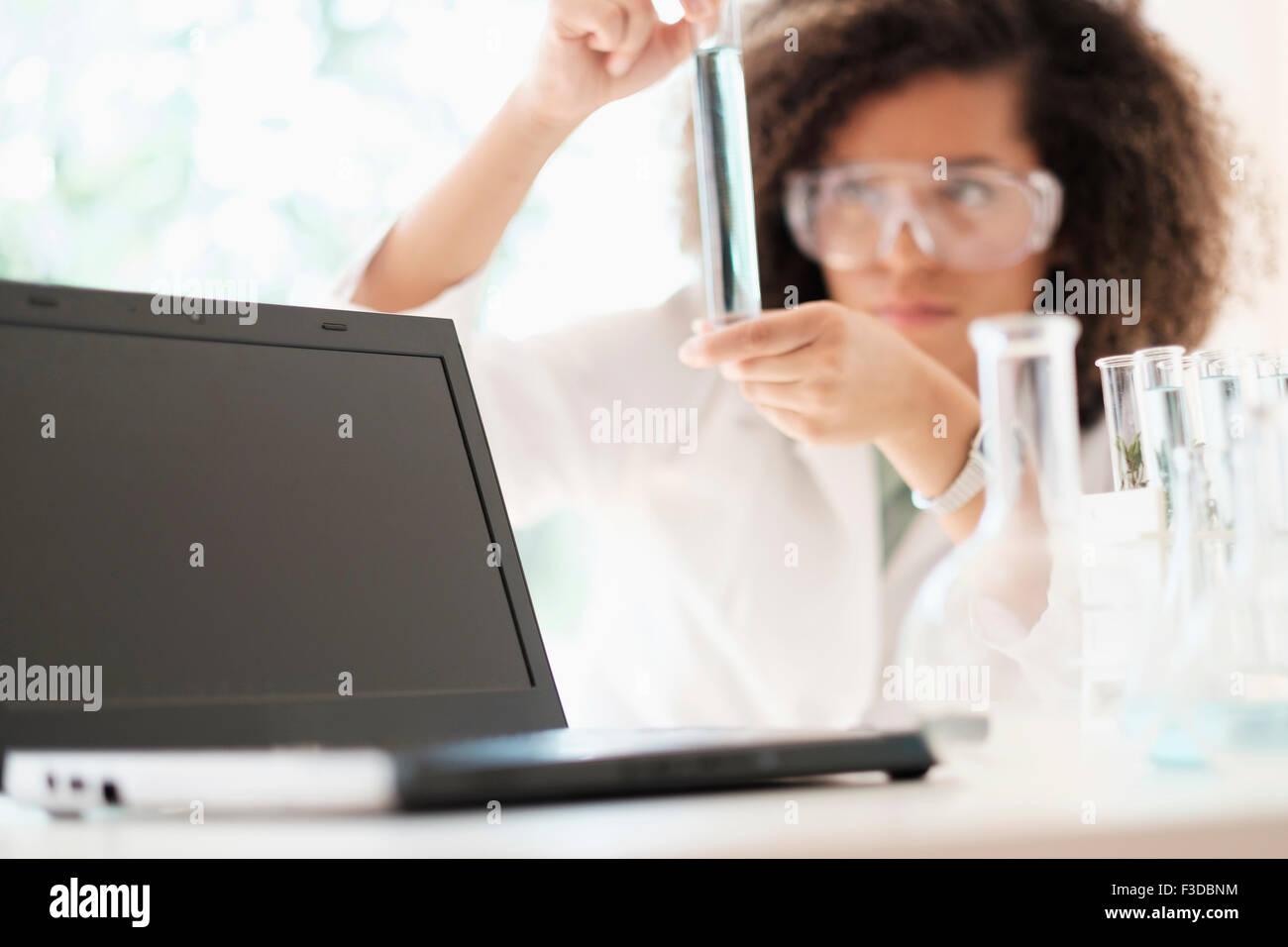 La recherche chimique scientifique Banque D'Images