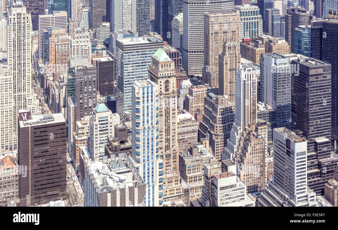 Vue aérienne de Manhattan, New York, USA. Photo Stock