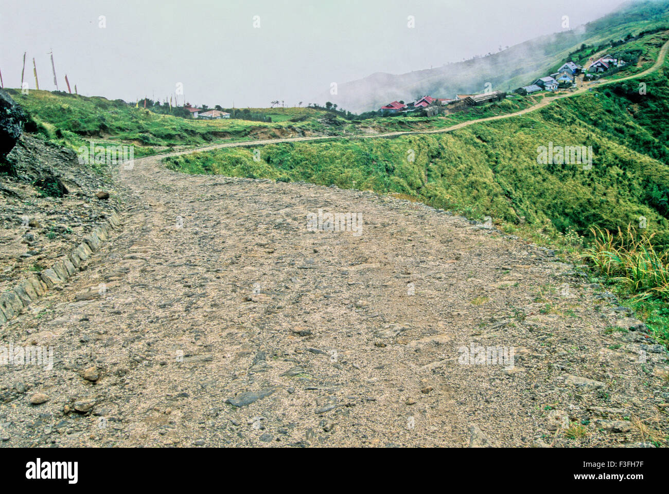 Sandakphu via route de trekking tour; style de vie Darjeeling Darjeeling au Bengale occidental; Inde; Photo Stock