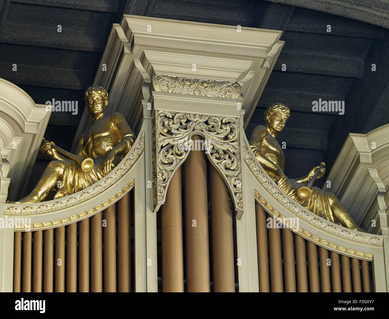 All Hallows par l'organe de la tour Photo Stock