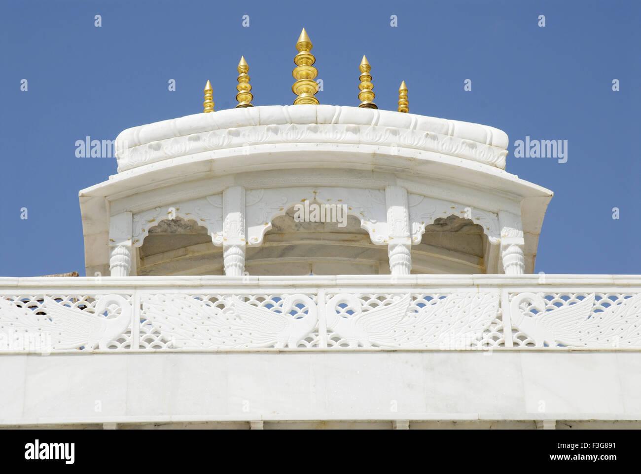 Hare Krishna Hare Ram temple de marbre; Ujjain dans le Madhya Pradesh; Inde; Banque D'Images
