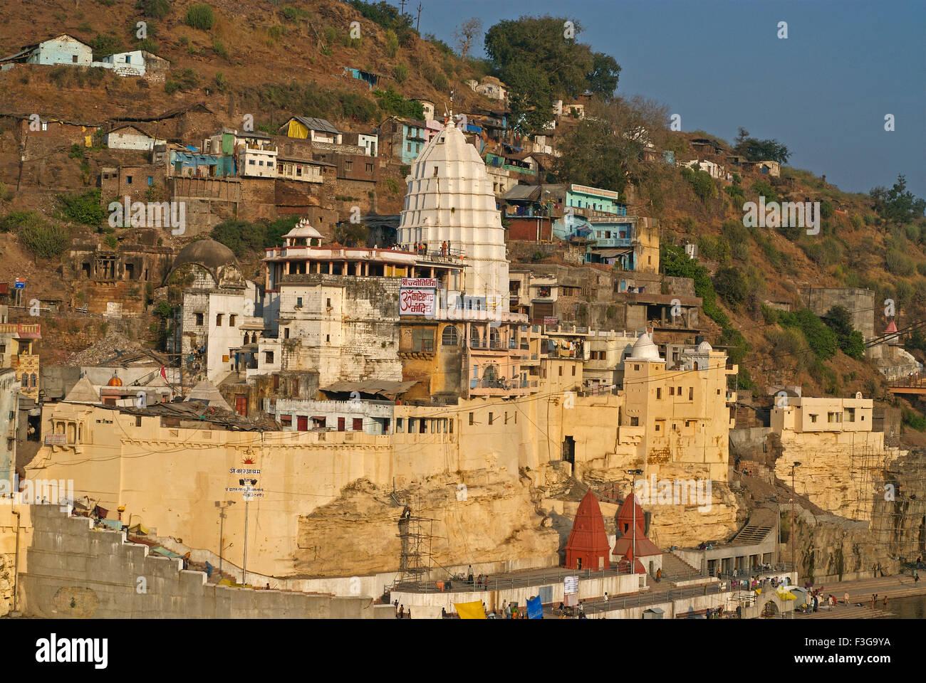 Omkareshwar Temple l'un des douze; Jyotirlings; Inde Madhya Pradesh Photo Stock