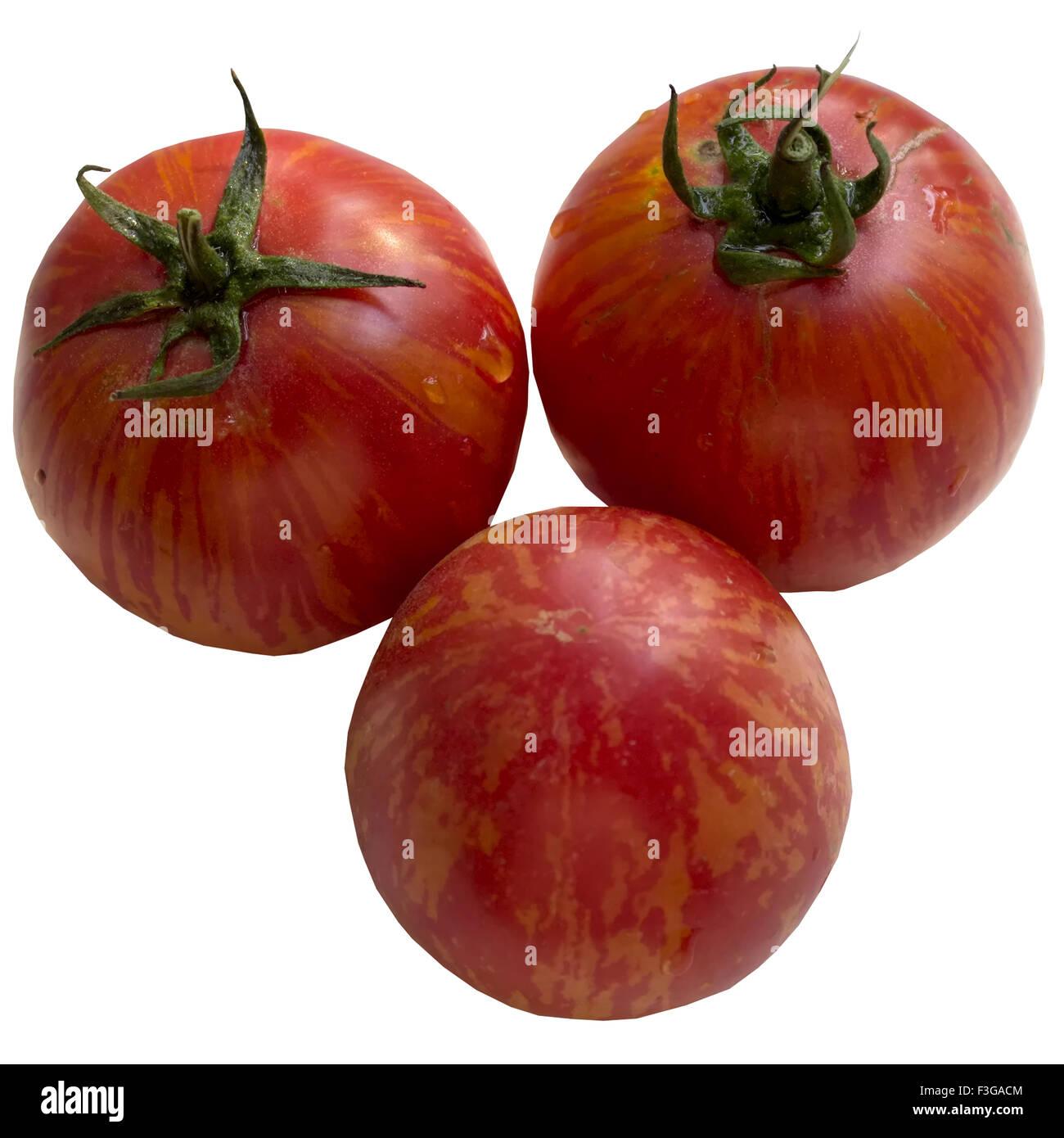 Arrière-plan lumineux, harvest, tomate, mûr, frais, jardinage, produit, naturel, tomate. Photo Stock
