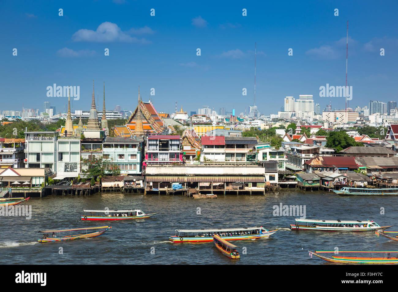 Belle river side ville de Bangkok, Thaïlande Photo Stock