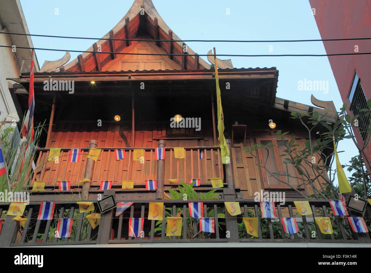 Thaïlande, Bangkok, maison ancienne, Banglamphu, Photo Stock