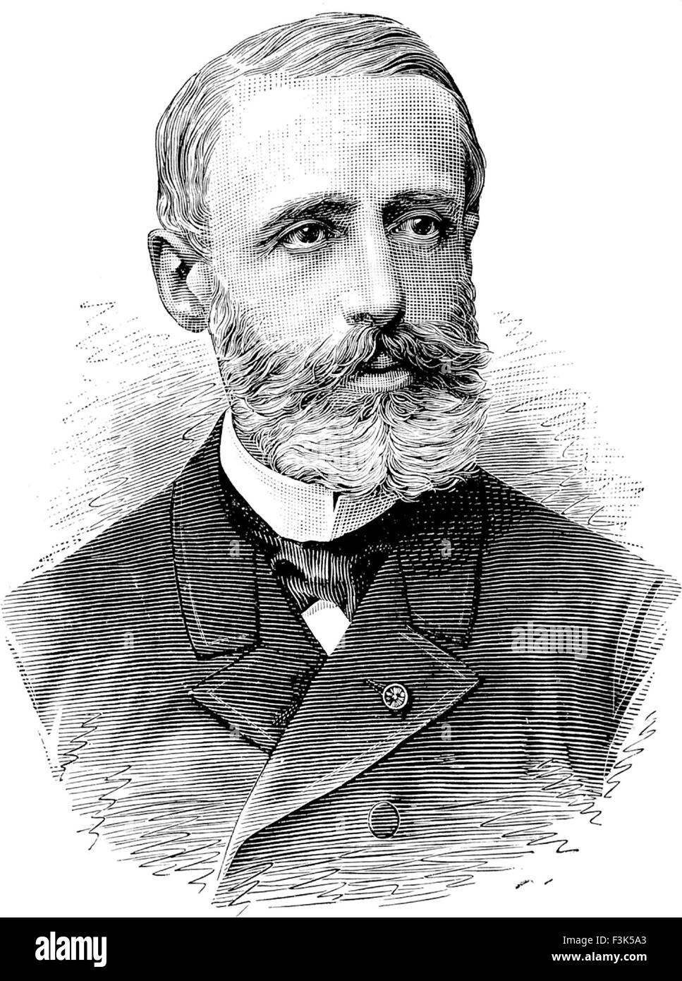 GASTON PLANTE (1834-1889) Physicien français qui a inventé la batterie acide-plomb0 en 1859 Photo Stock