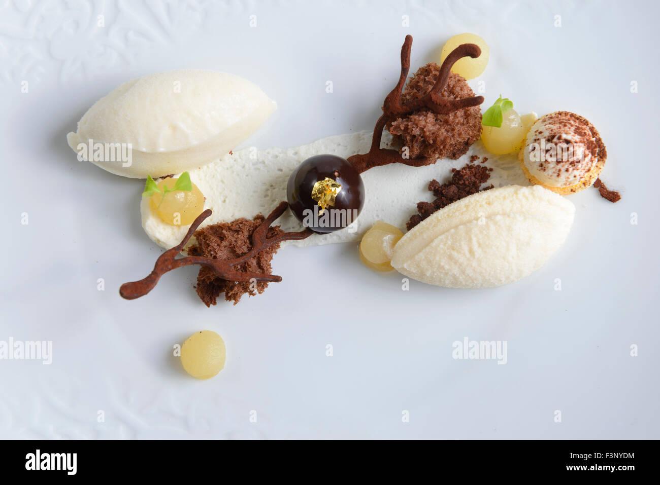 Dessert du Gourmet Photo Stock