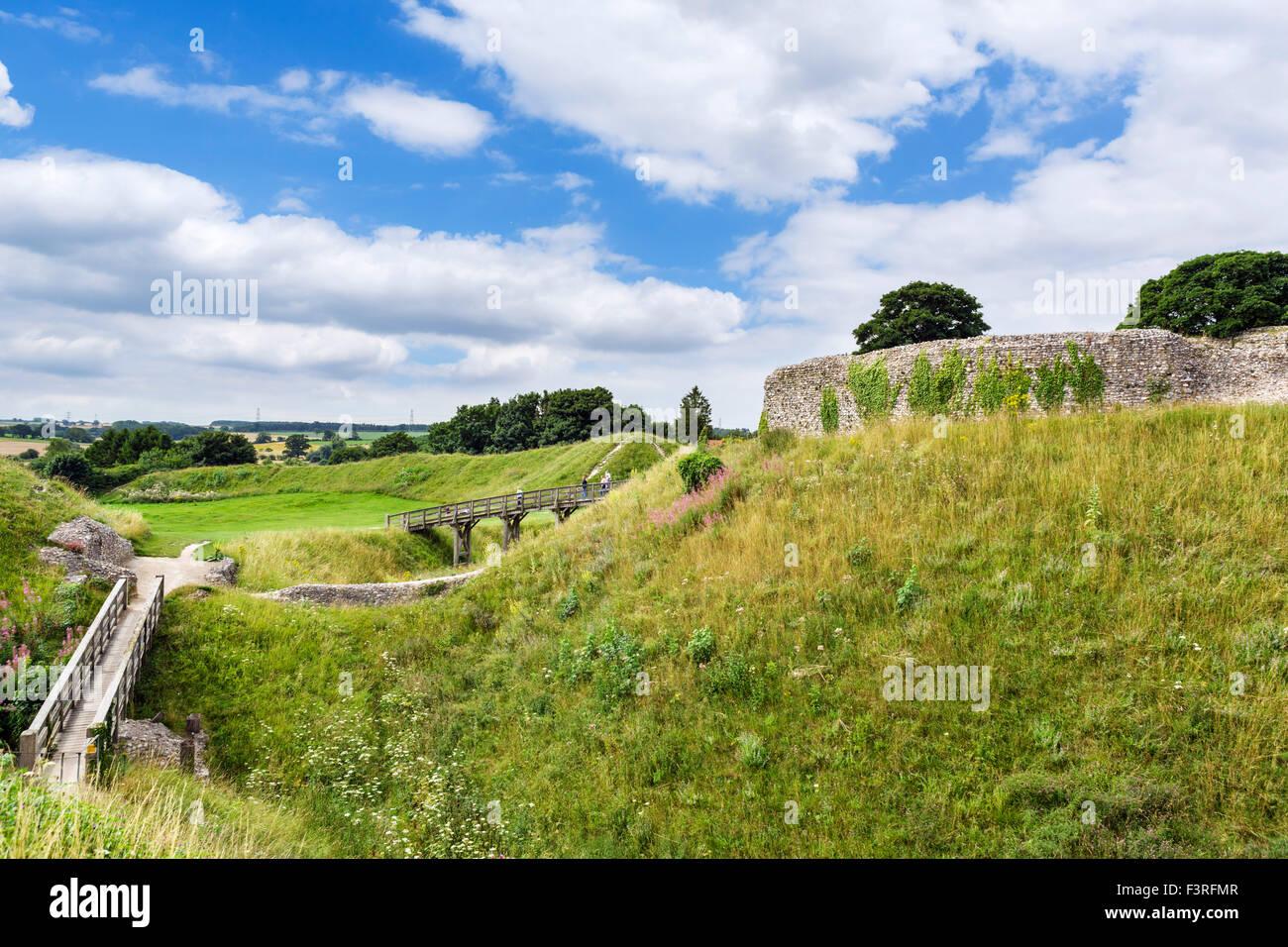 Les ruines du château d'Acre, une cité médiévale Château motte-et-bailey, Château Photo Stock