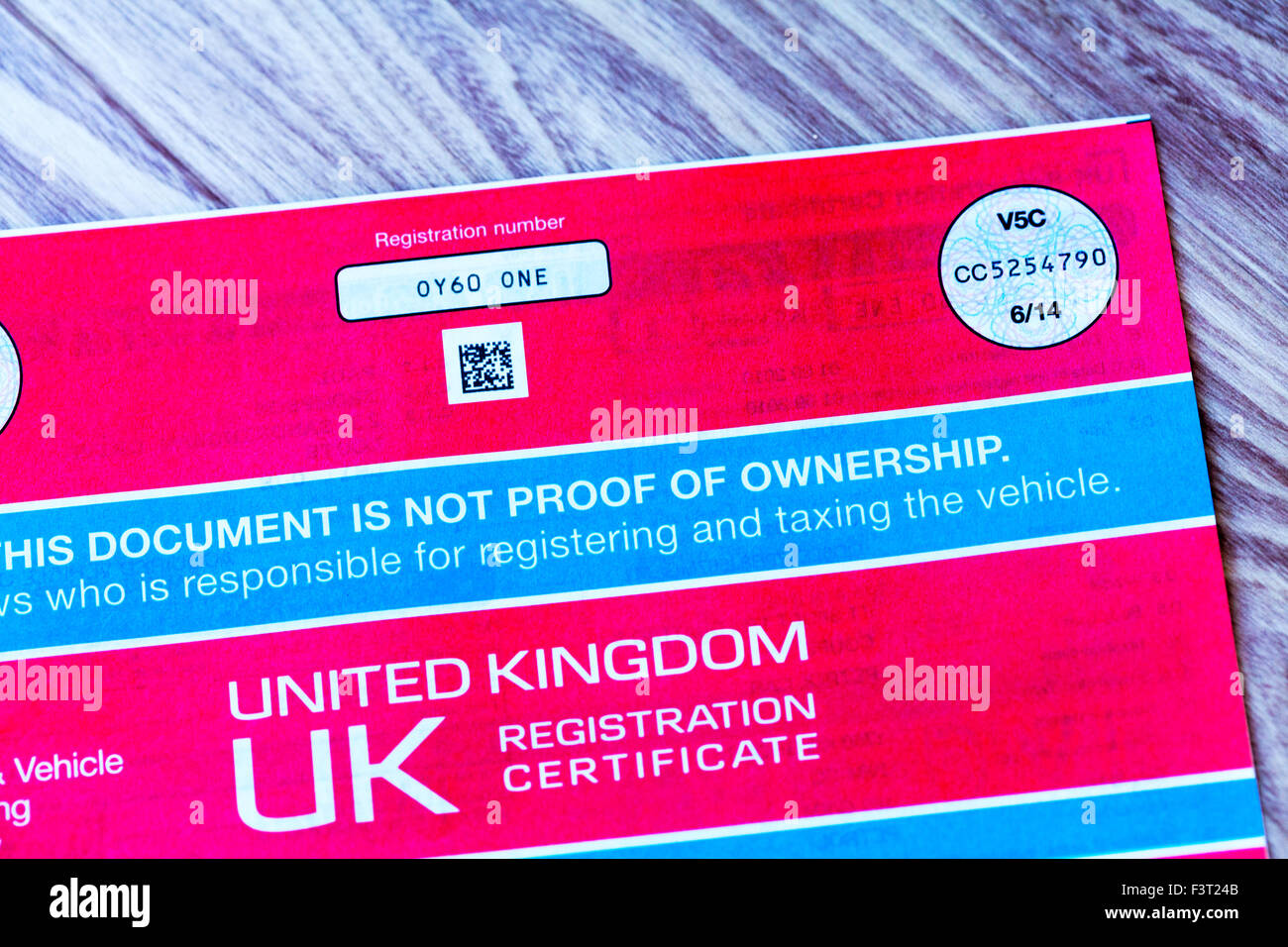 car registration photos car registration images alamy. Black Bedroom Furniture Sets. Home Design Ideas