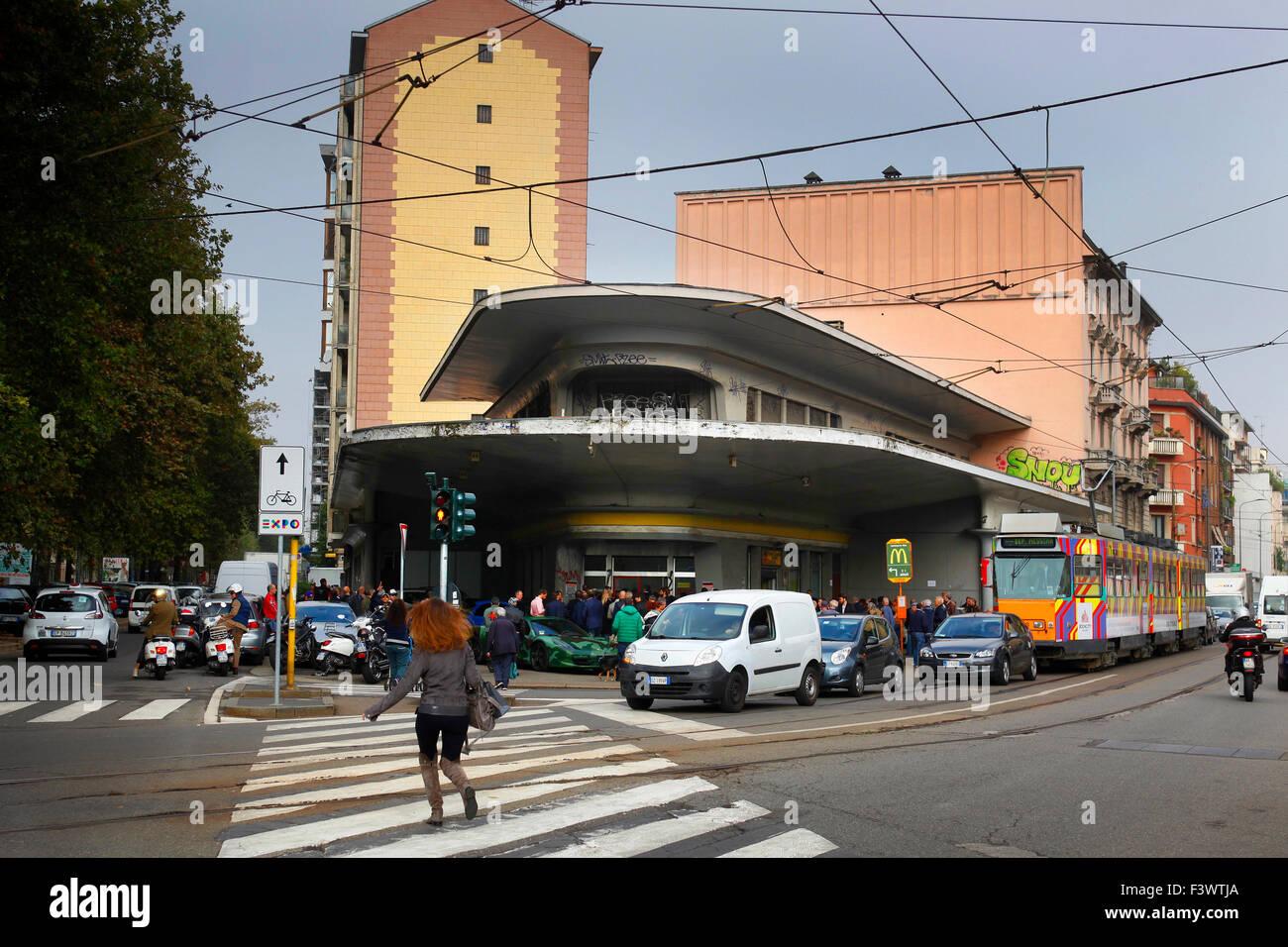 Le nouveau siège de Lapo Elkann's Garage Italia la douane dans Milan, Italie, à l'emplacement Photo Stock