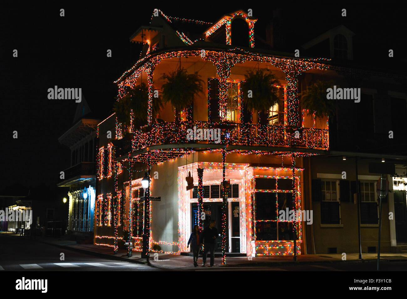 lumière de noël décorations élaborées mettez un quartier français